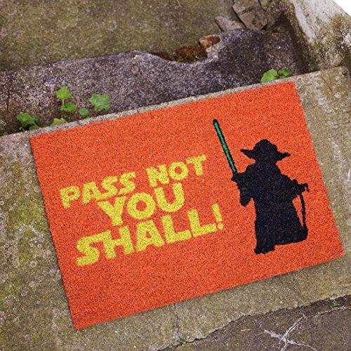 getDigital Pass not you shall Fußmatte - Hochwertige Türmatte für Nerds und Sci-Fi Fans aus 100{8158a3a8955d8026cc331e5e20232c60b60fb879bebd94079a32e36e18def71f} Natürlicher Kokosfaser - 60 x 40 cm