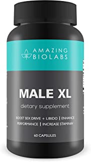 MALE XL By Amazing Bio Labs- Dietary Supplement - Enhance Performance + Increase Stamina
