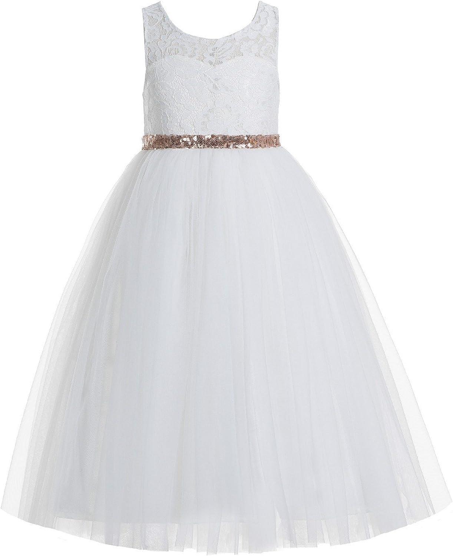 Ivory Junior Communion Girl Dress Black Red Rose Gold Size 2 4 6 8 10 12 R78