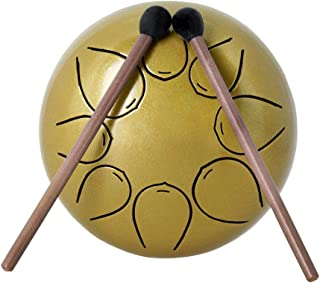 Steel Tongue Drum de Mini 8-Tone C Key Percussion Instrument Hand Pan Drum with Drum Mallets Carry Bag Drum Mallets Bags Note Sticks