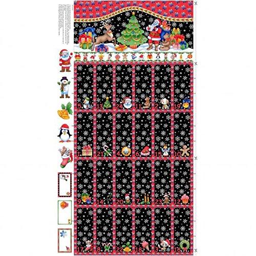 NU060 Tapiz de adviento de Papá Noel, 60x110cm, una vez está acabado el tamaño es de 60x 55cm