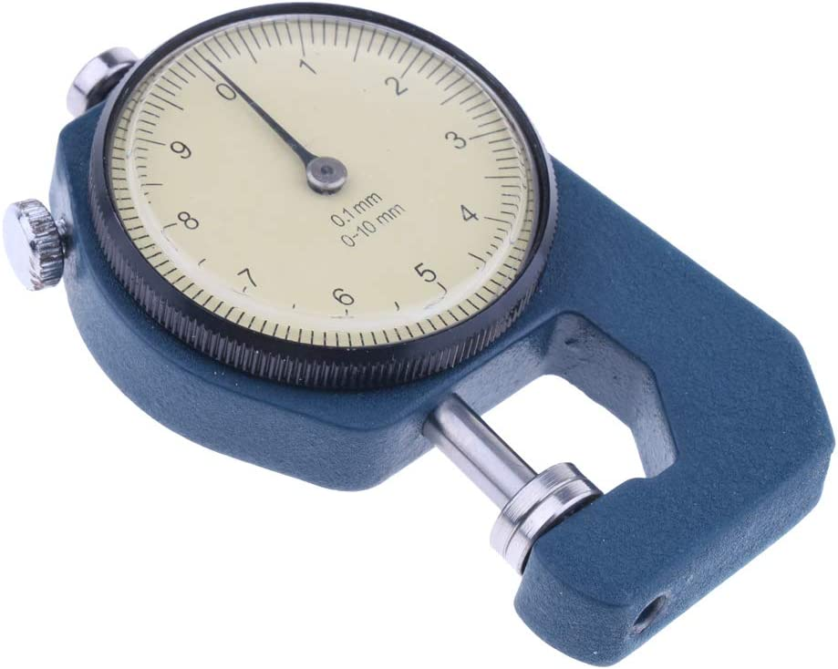 SM SunniMix Precision Manual Dial Paper Thickness Gauge Meter 0.01mm for thickness measurement of leather paper 0-10mm