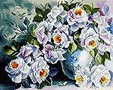 GMMH Diamond Completo bedeckung con Marco de Madera Painting Juego de 40x 50Diamante Pintura Bordado Mano Manualidades mosaicos Flores Cesta Casa Am Bach (gj530)