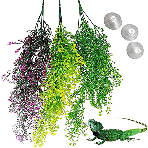 Soapow 3 plantas de reptiles colgantes viñas falsas...