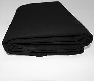 "Mybecca Black 100% Cotton Muslin Fabric Textile Draping Fabric Wide: 60 inch 2-Yards (5 Feet x 6 Feet)(60"" x 72"")"