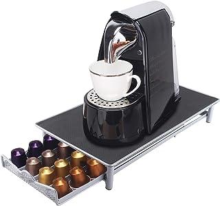 Brisunshine Porte capsules de café durable en métal pour tiroir de machine Nespresso Capacité 40 pièces