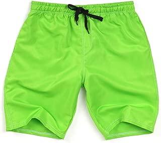 IHGTZS Shorts for Men, Men's Summer Swim Trunk Solid Color Casual Athletic Large Size Beach Short Pants