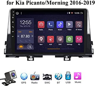 Buladala Android 8.1 Octa Core Car Stereo GPS de Navegación para KIA Picanto Morning 2016-2019, Soporte Audio Player/RDS ODB2/Mirror Link Steering Control/Control del Volante