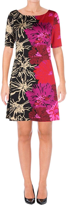 Julie Brown Womens Amy Printed KneeLength Wear to Work Dress