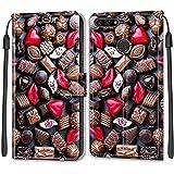 YKTO Etui en PU Cuir Coque pour Huawei Y6 2018/Honor 7A Flip Folio Housse Magnétique Chocolat à...