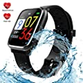 Smart Watch,Fitness Tracker with Heart Rate Monitor Activity Tracker Watch,IP67 Waterproof Smart Fitness Band with Step Counter Calorie Counter Pedometer Sleep Monitor Watch for Kids Women and Men