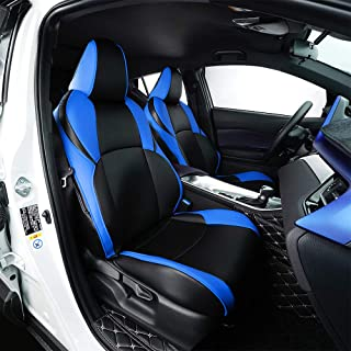 BeHave Autos CHR Car Leather Seat Covers Fit Toyota CHR 2018 2019 Auto Full Set Seat Cushion Protector 4pcs Saddle Cover,4pcs Back Cover,5pcs Headrest Cover(Blue)