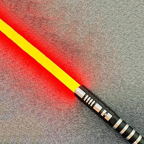 YLME Sable Luces Star Wars Que Brilla Intensamente Juguete Juguete Metal Extraíble USB Carga Ligera Láser Espada para Niños Brillante Regalo Juguete Cosplay Juguete,Rojo,38.5Inches