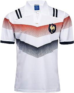 Rugby Jersey,Camiseta De Rugby Francesa,Camiseta De FúTbol Americano De La Copa Mundial 2017-18,FúTbol con Cuello En V para Hombres,Sudor Transpirable, Ropa para FanáTicos