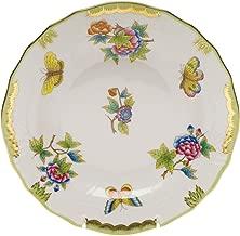Herend Queen Victoria Green Porcelain Dessert Plate