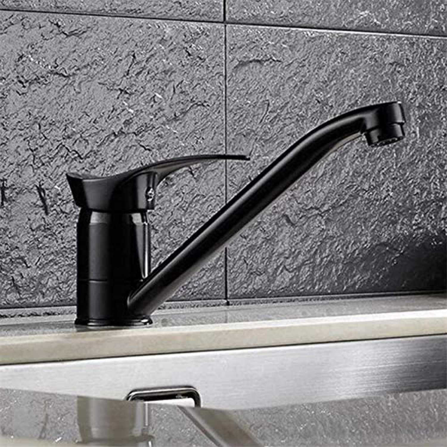 Kitchen Faucet Black Kitchen Sink Faucet, Modern Style Kitchen wash Basin Faucet Faucet Faucet hot and Cold Faucet, Black