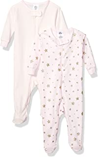 Baby Girls' 2-Pack Footed Pajamas