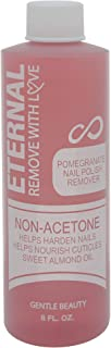 Eternal Cosmetics Non-Acetone Nail Polish Remover with Pomegranate Extract, Alpha Hydroxy Acids and Sweet Almond Oil – For...