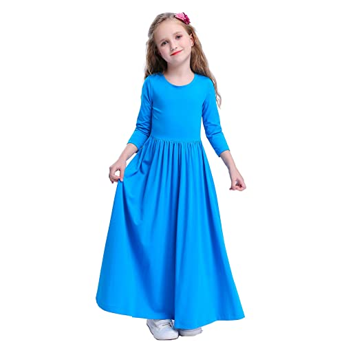 94e9e498dcc8 Happy Rose Girls Floral Maxi Three-Quarter Sleeves Holiday Long Dress Size  Girls' Fit