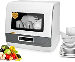 Compact Dishwashers Portable Apartment Countertop Dishwasher Fruit Vegetables Dishes Cleaning Air-Dry Dishwasher 6L-9L 45cm for Small Apartments – BITOWAT