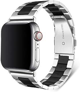 Acero inoxidable para Apple Watch Band 42 mm 38 mm Serie 6 SE 5 4 3 2 1 Reemplazo para IWatch Correa Correa de metal Corre...