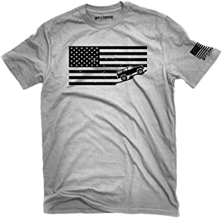 American Flag Jeep Cherokee XJ Shirt Ash Gray Made in USA t-Shirt America Jeeper