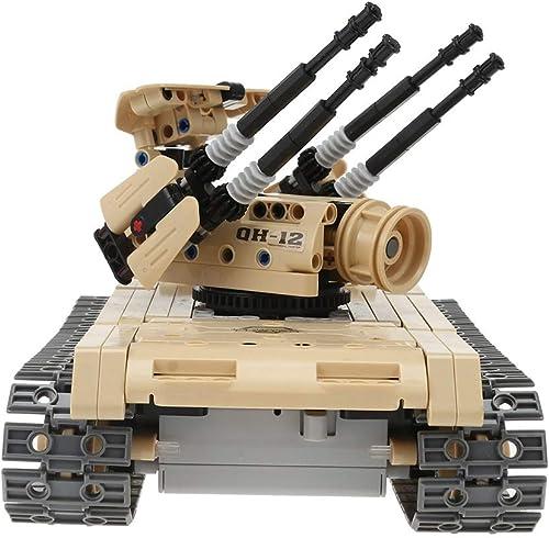 ELVVT 24  16  16cm DIY ferngesteuerte milit sche wüste Tank 457 Stücke baustein Spielzeug rc Tank Auto zerlegt kit Modell Geburtstag Kinder und Erwachsene
