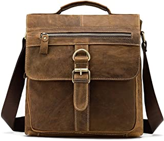 Mens Bag Suede Leather Retro Men's Pockets Shoulder Men's Messenger Bag Europe And America Men's Bag Flip Men's Bag Leather Men's Small Bag High capacity