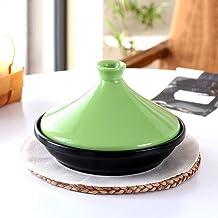 Praktisch Casserole gerechten dikke pan voor keramische braadpan met gietijzeren basis en steengoed trechter deksel voor a...