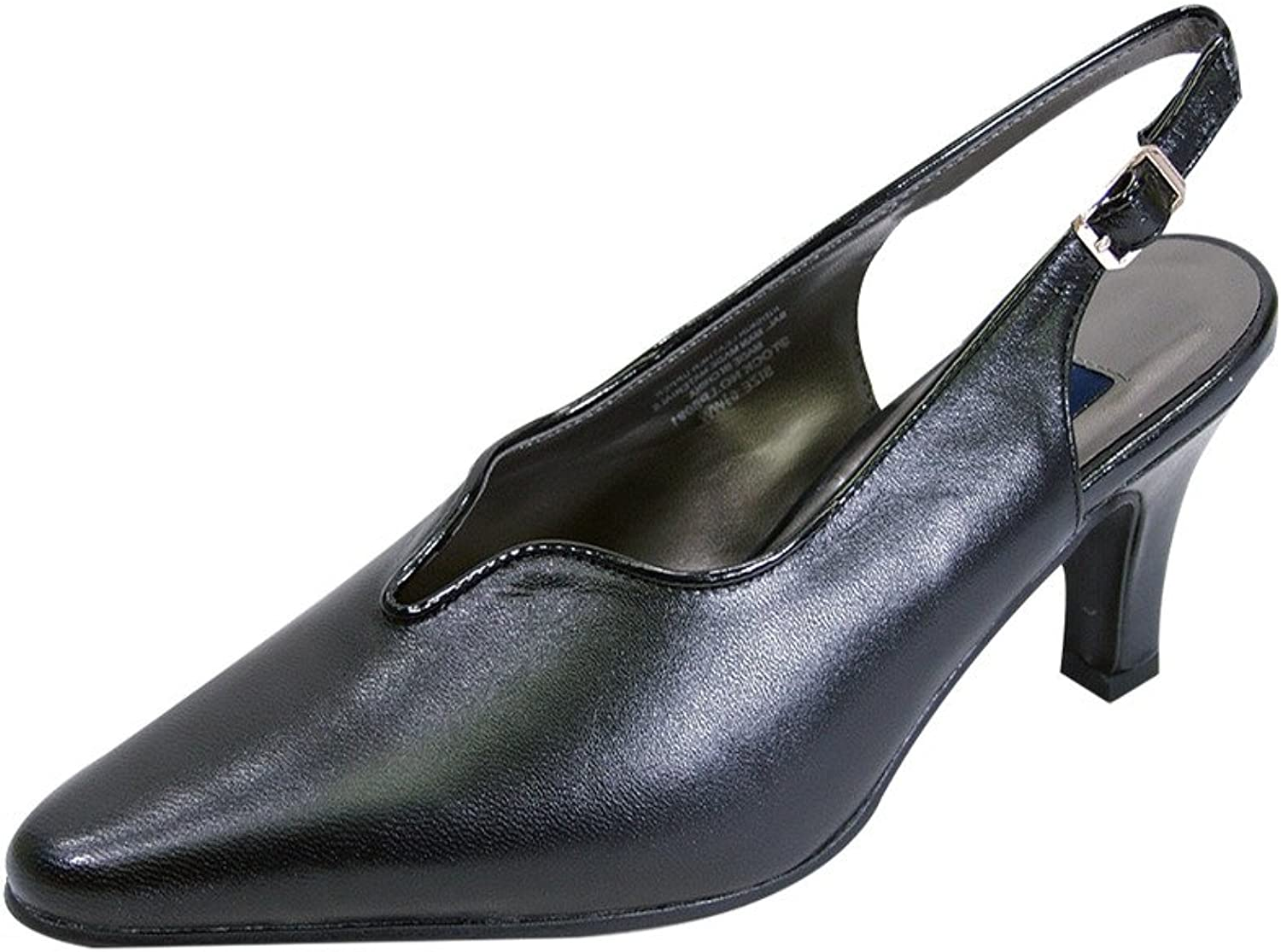 Peerage FIC Hope Women Wide Width Pointed Toe Dress Pump (Size and Measurement Guides Available)