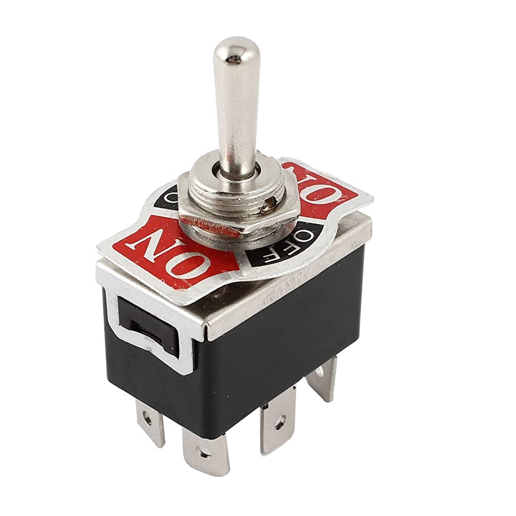 AUTUT Car DPDT Toggle Switch 3 Position Momentary ON 125V 15A