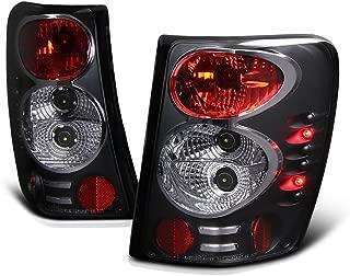 VIPMOTOZ Altezza Euro Style Tail Light Lamp For 1999-2004 Jeep Grand Cherokee - Black Housing, Driver & Passenger Side