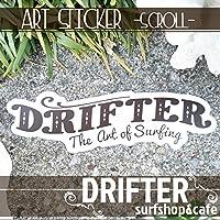 DRIFTER surf shop & cafe (ドリフター サーフショップアンドカフェ) Rob Machado ART STICKER SCROLL スクロール ロブ・マチャド アートステッカー ロゴステッカー サーフィン シール