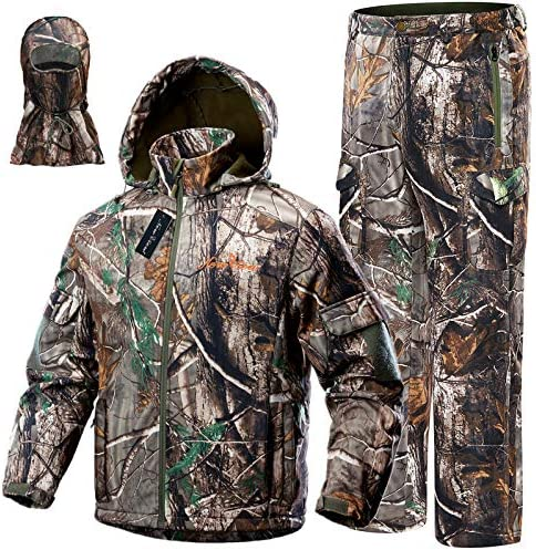 NEW VIEW 2020 Upgrade Hunting Clothes for Men Silent Water Resistant Hunting Suits Camo Hunting product image