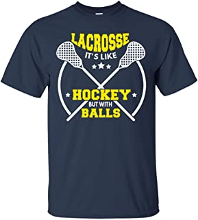 Lacrosse Like Hockey with Balls LAX Sport Lacrosse Player G.O.A.T Lacrosse Game Relax Steeze Yellow - Lacrosse Gifts Shirt