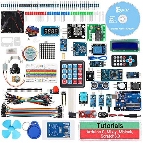 Keywish RFID Starter Kit für Arduino UNO R3, mit Bluetooth-Modul, 34 Lektionen, lötfrei, Unterstützung Scratch Mblock grafische Programmierung