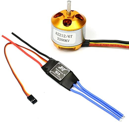 2200KV Brushless Motor 2212-6 30A ESC For RC Plane Helicopter w// Mounting ❃ ≏ L
