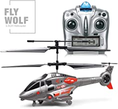 3.5 Channel Mini Helicopter,RC Helicopter with Gyro and LED Light, Remote Control for Kids & Adult Indoor Outdoor RC Helicopter Best Helicopter Toy Gift,Gray