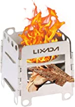 Lixada Camping Stove Wood Burning Stoves Potable Folding Stainless Steel Backpacking..