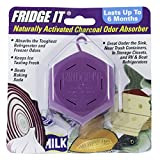 Innofresh Fridge-It- Refrigerator Deodorizer 6 PACK, Odor Absorber and Air Freshener. Natural Activated Charcoal and Fragrance Free, Lasts up to 6-Months