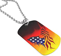 FRS Ltd American Flag.png Dog Tag Pendant Necklace Military Chain Air Force Pendant Zinc Alloy Necklace Festival Military Necklaces for Great Gift Idea