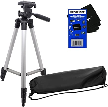 HF R20 HF R200 HF R300 HF R100 HF R32 12 Flexible Wrapable Legs Tripod with Quick Release Plate and Bubble Level for Canon Vixia HF R11 HF R30 Red//Black HF R21 /& HF R400 Full HD Camcorders w// HeroFiber Ultra Gentle Cleaning Cloth HF R40 HF R42