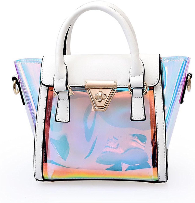 Marchome 2 in 1 Small Hologram Handbag Crossbody Purse Shoulder Bag