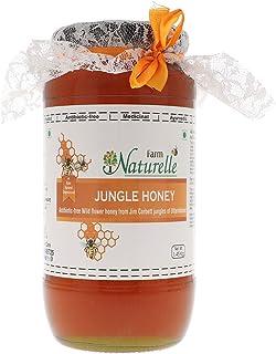 Farm Naturelle-Virgin Pure Raw Natural Unheated Unprocessed Forest Honey - Jungle Flower Honey-1.45 KG Big Glass Bottle