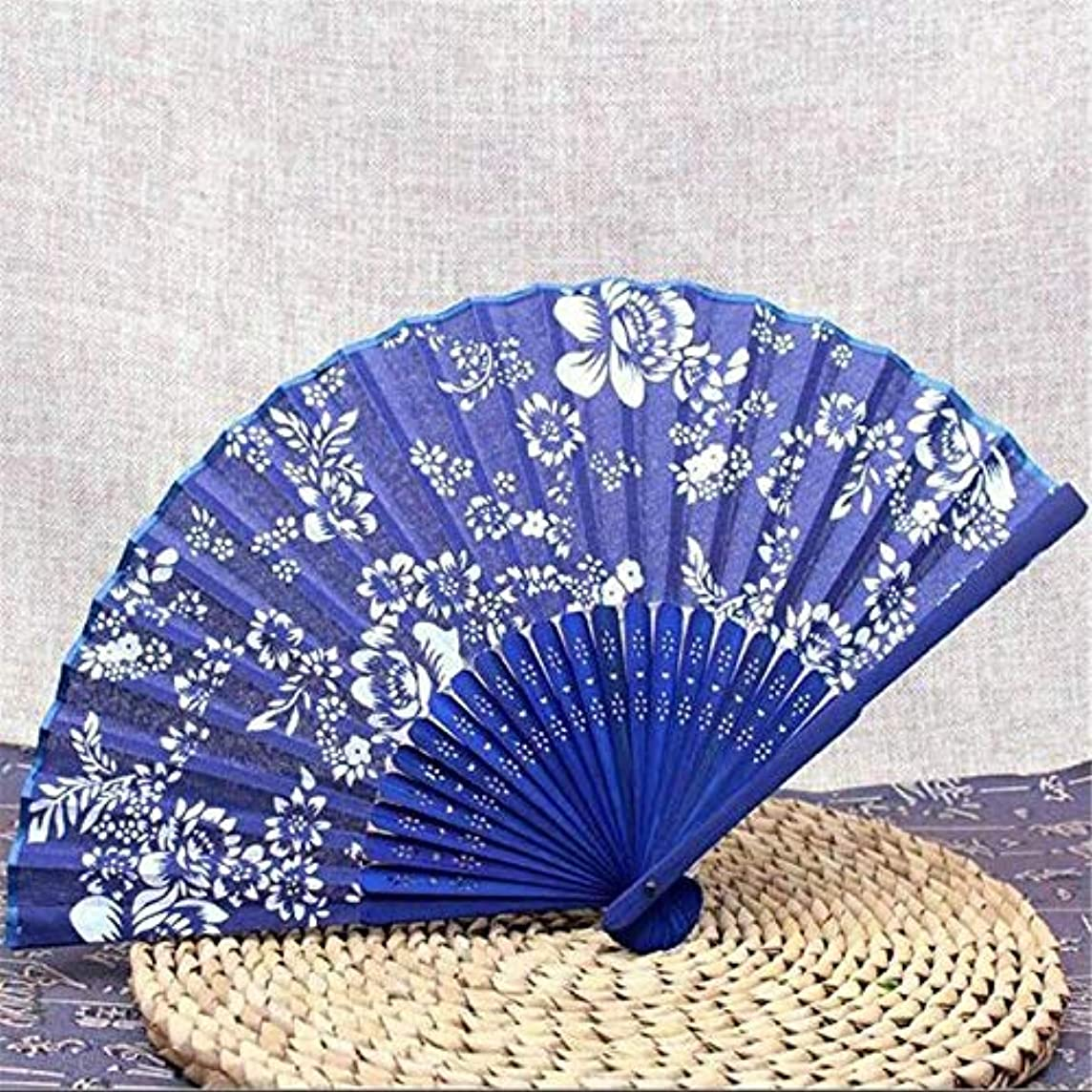 Party Favors - 2019 Chinese Blue And White Porcelain Silk Fan Classical Folding Cloth Bamboo Handle Retro Gift - Dinnerware Dragon Pill Decor White Bowls Fabric Balls Teapot Mugs Gown Dishes Dis