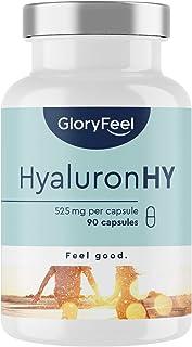 Hyaluronsyra Kapslar Högkoncentrat - 525 mg - 90 Veganska Kapslar (3 Månaders Förbrukning) - Molekylstorlek 500-700 kDa - ...