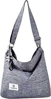 Fanspack Canvas Tasche,Canvas Umhängetasche Damen Shopper Damen Schultertasche Handtasche Damen Canvas Shopper Hobo Tasche...