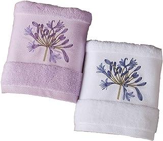 Hui Jin - Juego de 3 toallas de algodón bordadas, para niños, diseño de cara suave y bonitas toallas para niños