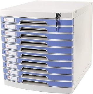 KANJJ-YU Plastique cosmétique bureau tiroir, Rangement Organisateur tiroir verrouillable Sorter A4 Boîte de bureau (5 couc...