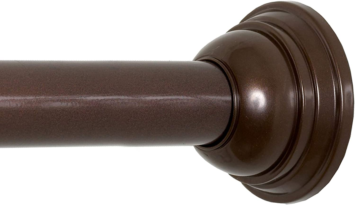 Oil Rubbed Bronze Zenna Home Decorative Tension Shower Curtain Rod 44 to 72 Inches